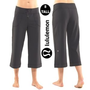 Lululemon Dark Grey Cropped Wide Leg